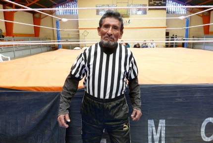75-year-old wrestling referee Ali Farak