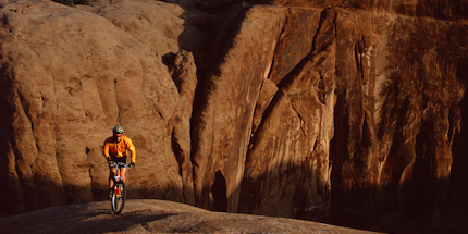 Mountain biking amidst the spectacular red rocks of Utah is a real thrill