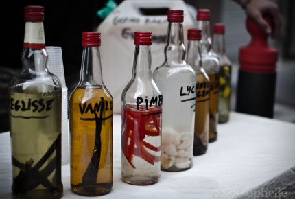 A flamboyant array of drinks are on offer to attendees