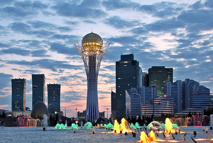 Baiterek Tower, the emblem of Astana