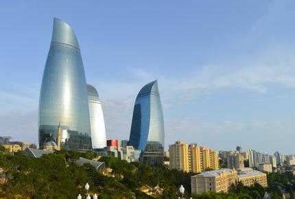 Baku's Flame Towers are the jewel of the city's skyline