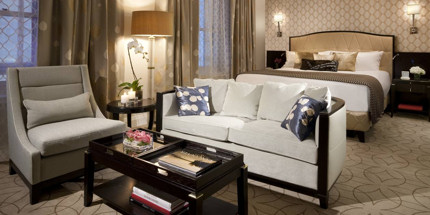 The décor and furniture echo the 1920s and 30s - elegant and timeless