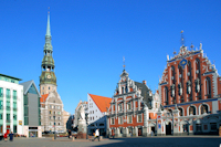 Riga, Blackheads House and St Peters Church