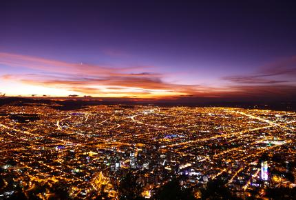 Bogotá all aglow