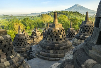 Borobudur, the world's largest Buddhist temple.