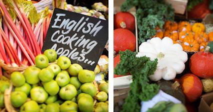 Try British fruit and veg at Borough Market