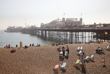 Brighton has earned itself the nickname 'London by Sea'