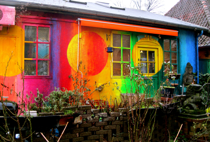 Christiania homes are unique as the area is free from planning restrictions