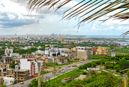 Dakar sits on the southernmost tip of Senegal's Cap-Vert peninsula