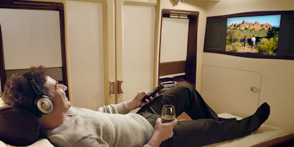 Relax in first class comfort with Singapore Airlines