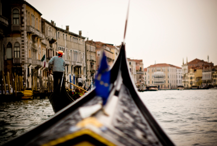 Gondolieri are usually taught at Venice's male rowing clubs