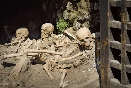 Herculaneum was destroyed by the 79 AD Mount Vesuvius eruption