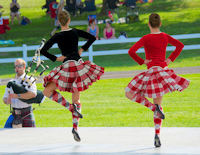 Highland games dancers