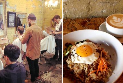 Hurwundeki combines a hairdressers with a Korean restaurant