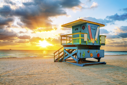 It's all about beaches in bards in Miami come April