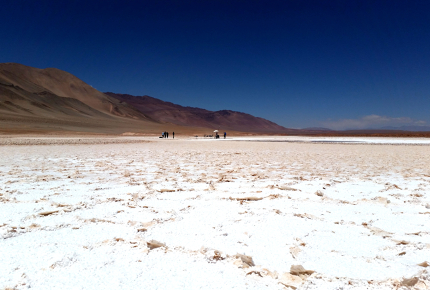 It's hard to believe this salt flat is 3,800m above sea level