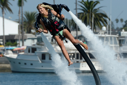 Jet pack flights last between 15 and 50 minutes