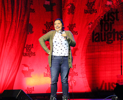 Joking around at Just For Laughs in Canada
