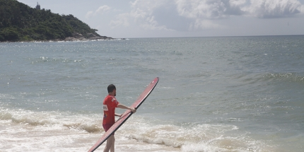 Riyue Bay remains largely undiscovered by the surf fraternity