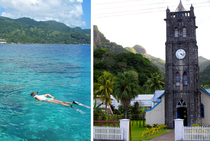 Levuka's architecture contrasts beautifully with its tropical setting