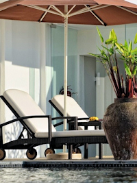 Danna Langkawi Loungers by the pool