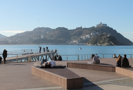 Lounging is key to life in San Sebastián