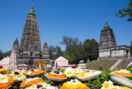 Mahabodhi Temple, the most holy site for Buddhists.
