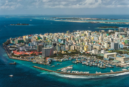 Male, the capital of the Maldives