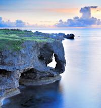 Manzamo sunset Okinawa