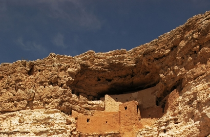 Montezuma Castle was carved out of a cliff by Native Americans
