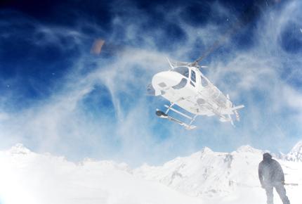 No fear: heli-Skiing in Alaska