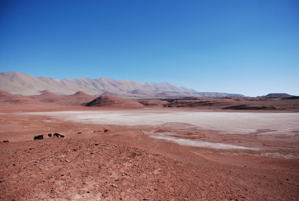 Northwest Argentina is peppered with salt flats
