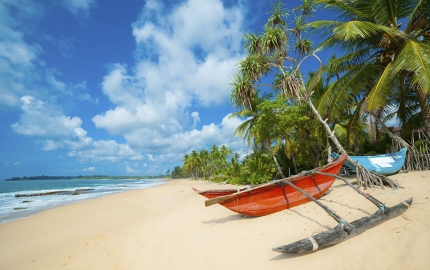 October is a great time to bask on Sri Lanka's palm-fringed beaches