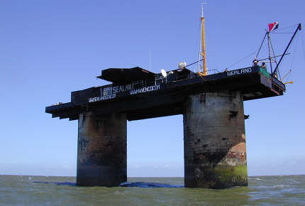 Sealand is built on a Second World War sea fort
