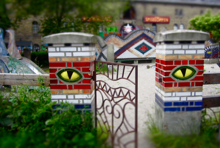 Some of the walls have eyes in Christiania