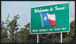 Welcome to Texas green sign