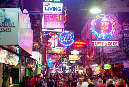Thailand's red-light district are popular with sex tourists
