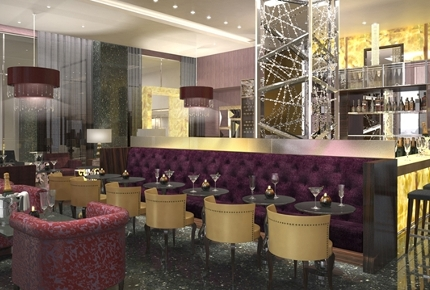 The 360° Bar is on the 25th floor of the Hilton Hotel in Baku