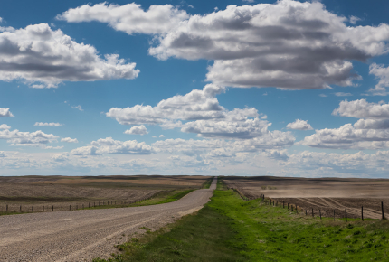 The Saskatchewan landscape changes as you head north