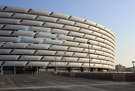 The all new Baku National Stadium opened earlier this year