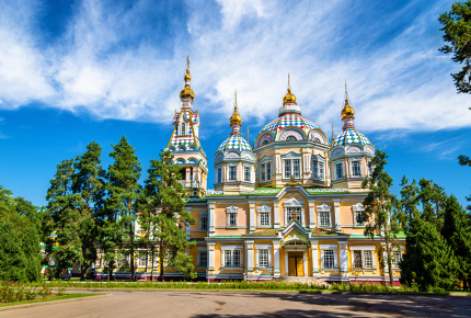 The all-wooden Russian Orthdox Ascension Cathedral, Almaty