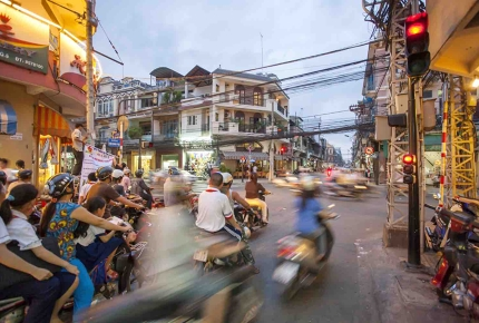 The busy streets of Ho Chi Minh