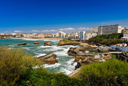 The rough coast of Biarritz
