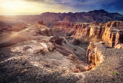 The splendour of Charyn Canyon