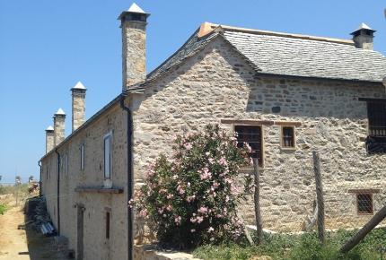 The stone exterior of Graceman's monastery