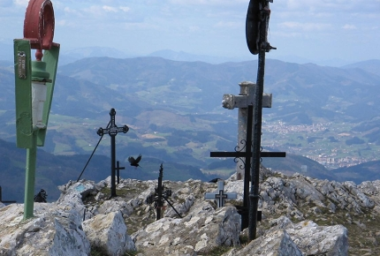 The summit of Hernio is a very spiritual spot