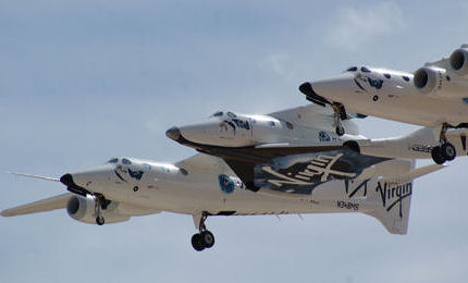 Travel to space on a Virgin Galactic flight
