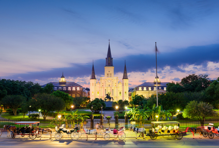 True icon: Jackson Square in New Orleans