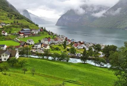 Undredal is famous for the brown goat cheese (geitost)