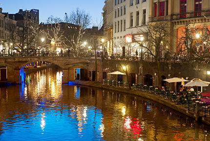 Utrecht's canals were recently voted the most beautiful in Europe